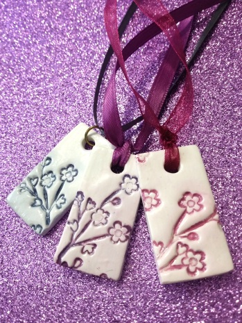 DIY clay pendants
