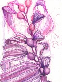 watercolor + pens